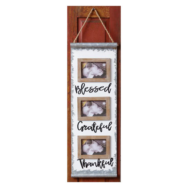 Blessed Grateful Thankful Picture Frame Trio 8WH760