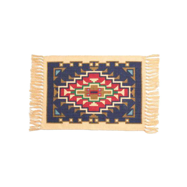 Blue and Red Aztec Stencil Tapestry 789 Placemat W-HIMAT789