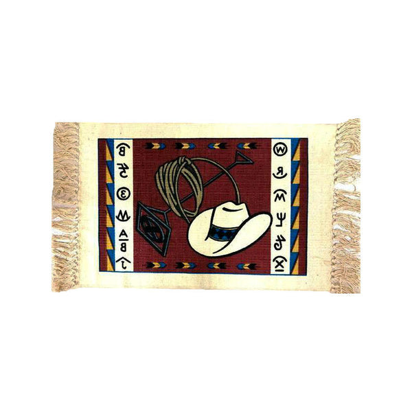 Branded Cowboy Stencil Tapestry Placemat W-HIMAT117