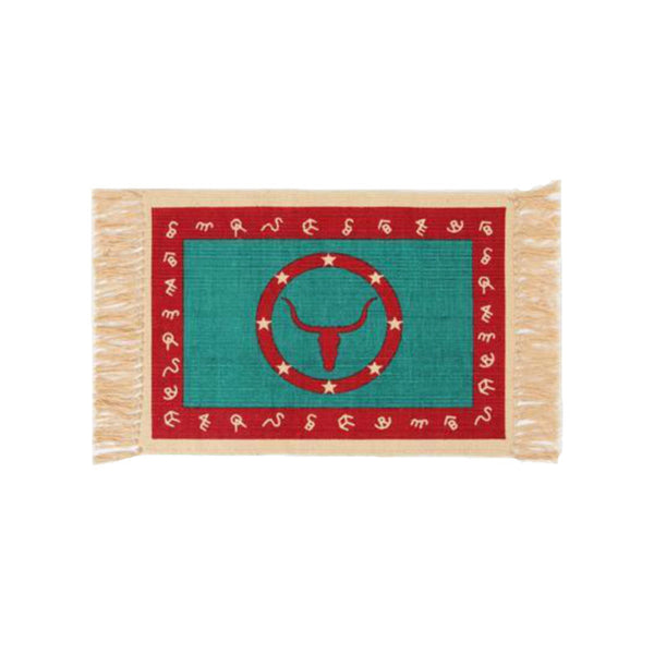 Branded Steer Stencil Tapestry Placemat W-HIMAT157