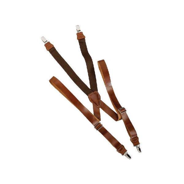 Brown Leather Suspenders SU-42-L2