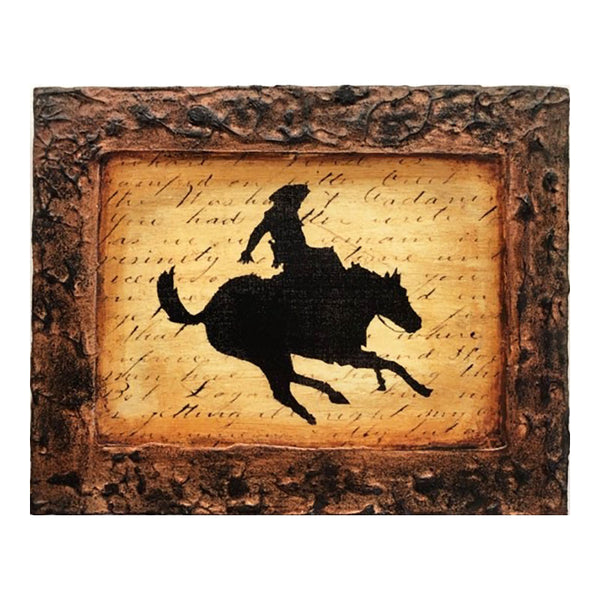 Bucking Bronco Framed Canvas Art Print 26660
