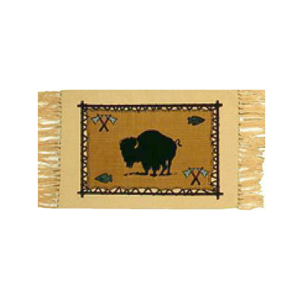 Buffalo Stencil Tapestry Placemat
