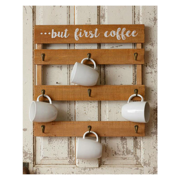 But First Coffee Mug Wall Rack 8W2317