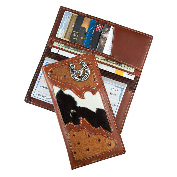 Cagauma Leather Steer Head Rodeo Wallet LW-201/STEER