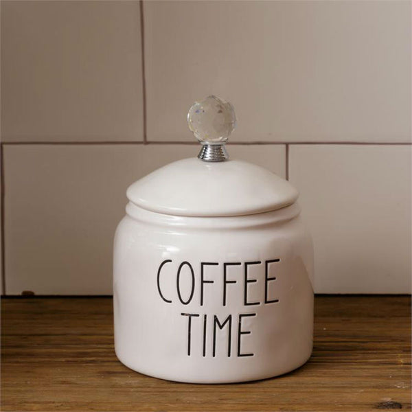 Ceramic Coffee Time Canister 8PT1177