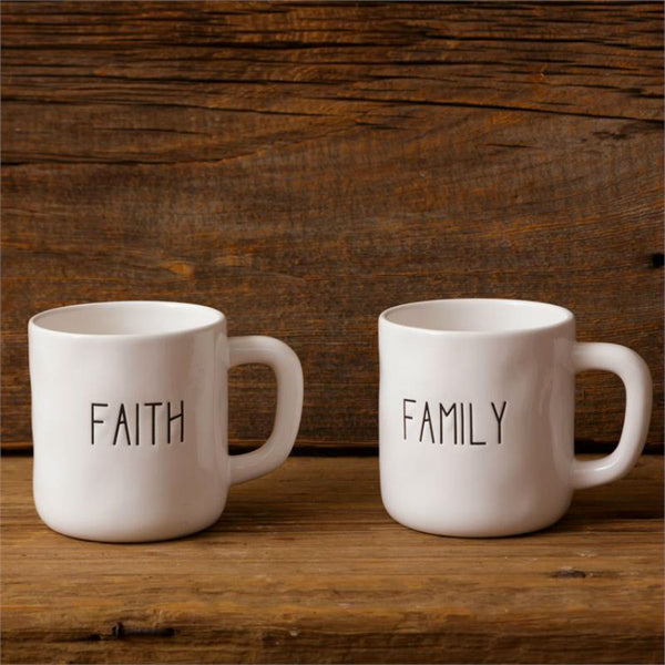 Ceramic Faith and Family Mugs 8PT1162