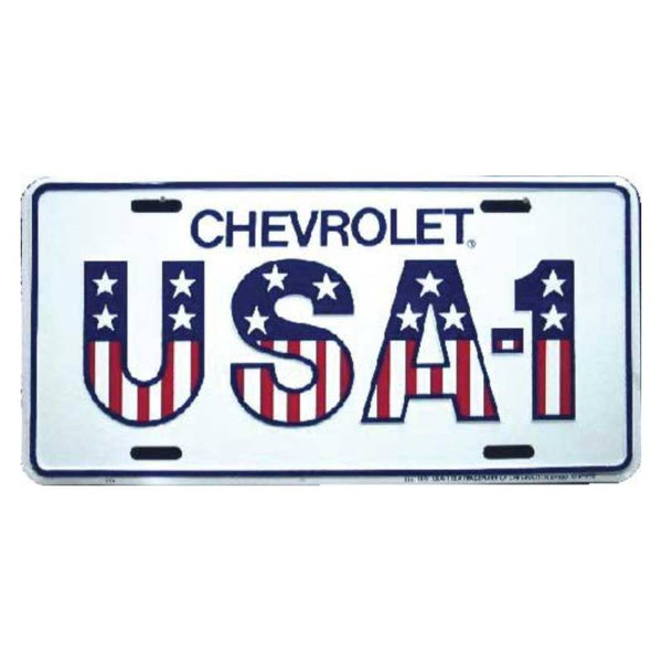 Chevrolet USA-1 Tin License Plate LP-8942