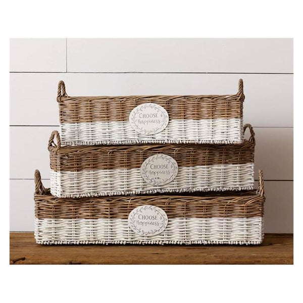 Choose Happiness Stacking Baskets 8B2285