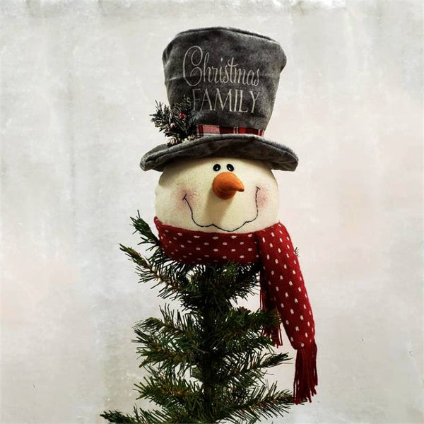 Christmas Is Family Snowman Tree Topper 7D4964