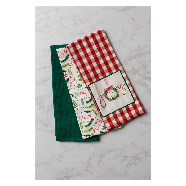 Christmas Joy Kitchen Tea Towels 7FA1134