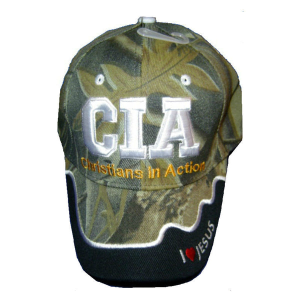 CIA Christians In Action Cap Camo Black CP346