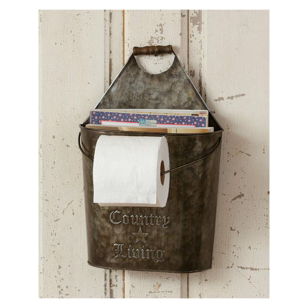 Country Living Toilet Tissue Holder With Magazine Pocket 8T1247