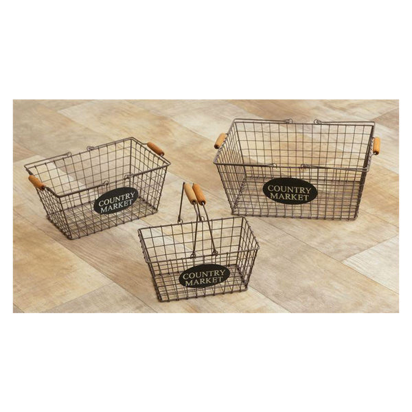 Country Market Wire Baskets 8B2177