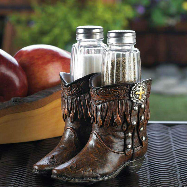 Cowboy Boots Salt & Pepper Shakers Set 10017553