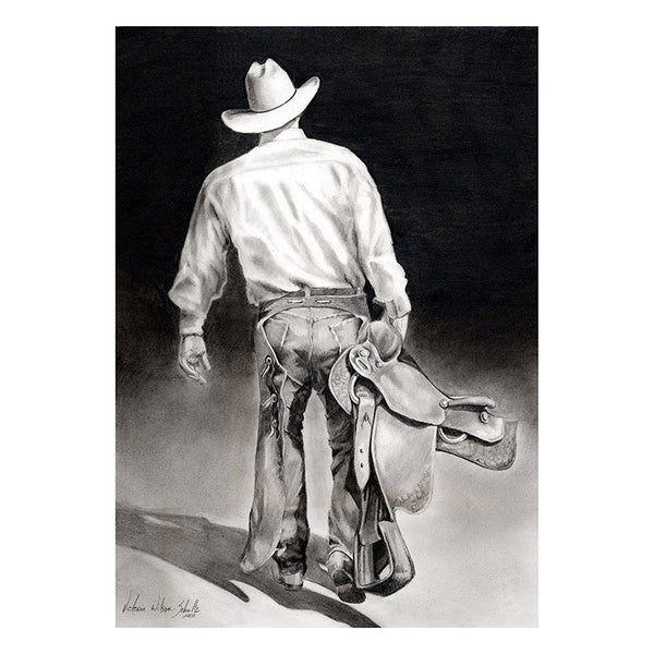 Cowboy Canvas Art Print 12 x 16 2682