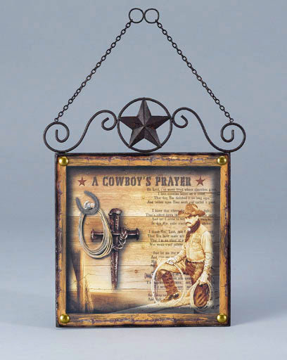 Cowboy's Prayer Sign CG-201