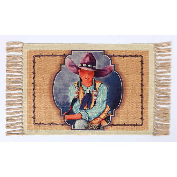 Cowgirl Blue Digital Print Placemat W-DMAT111