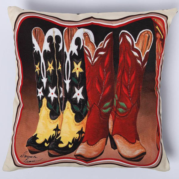 Cowgirl Boots Digital Print Pillow Cover DPC101