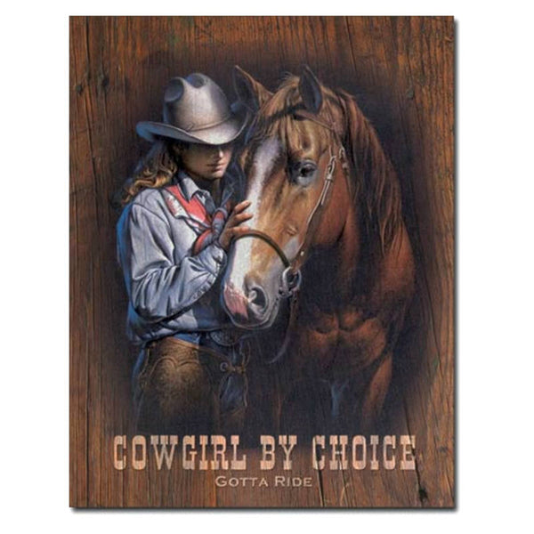 Cowgirl By Choice Tin Sign 034-1831
