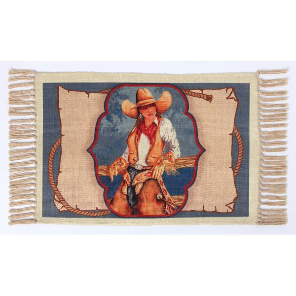 Cowgirl Casual Digital Print Placemat W-DMAT109