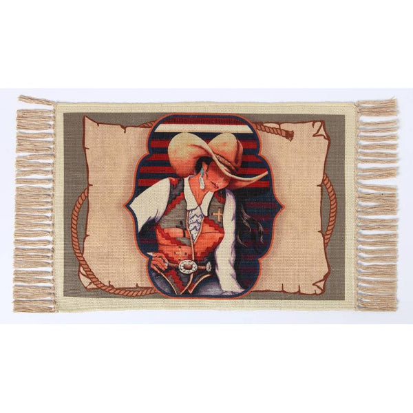 Cowgirl Contemplation Digital Print Placemat W-DMAT113