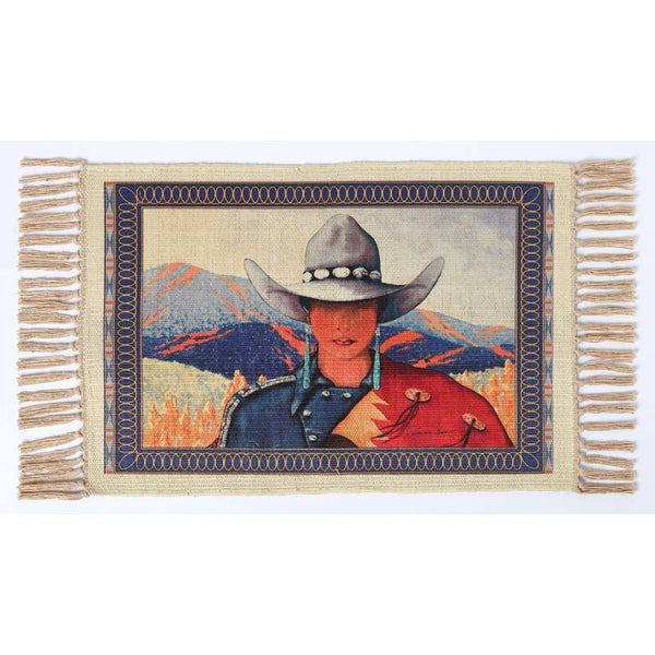 Cowgirl Home Digital Print Placemat W-DMAT104
