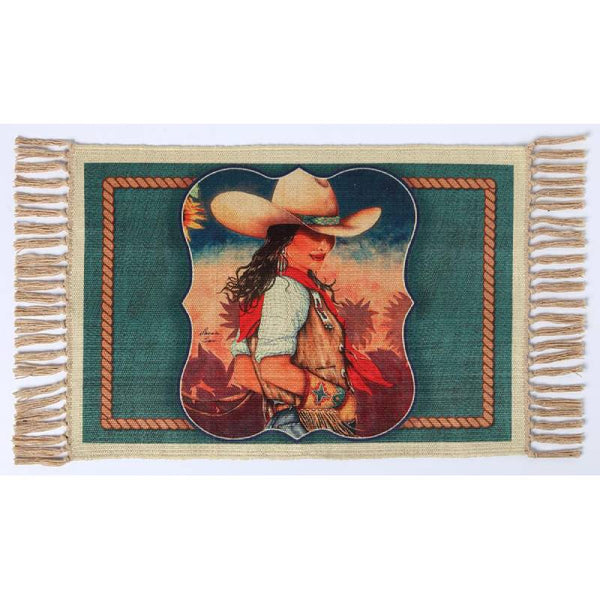 Cowgirl Life Digital Print Placemat W-DMAT103