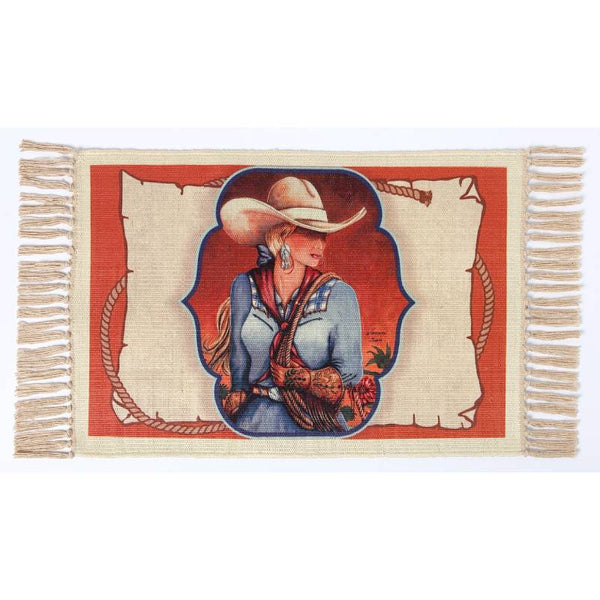 Cowgirl Roundup Digital Print Placemat W-DMAT107