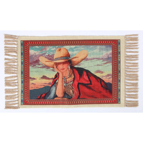 Cowgirl Style Digital Print Placemat W-DMAT108