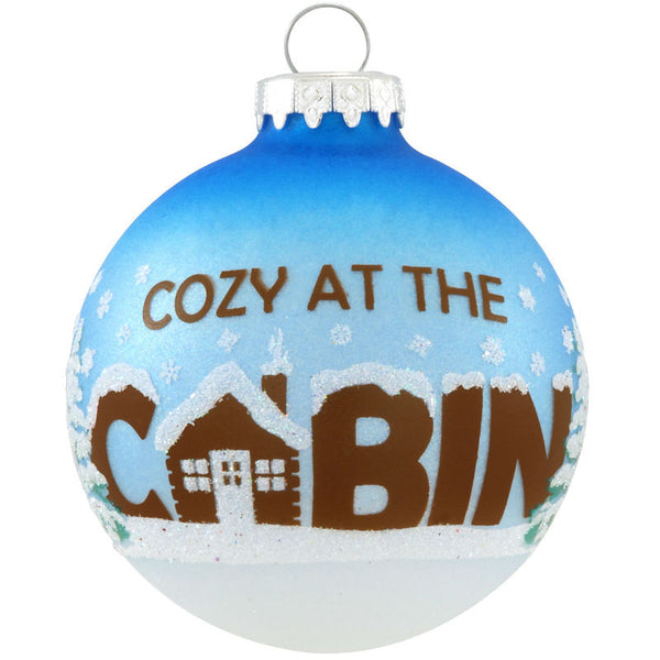 Cozy at the Cabin Glass Ornament 1173972