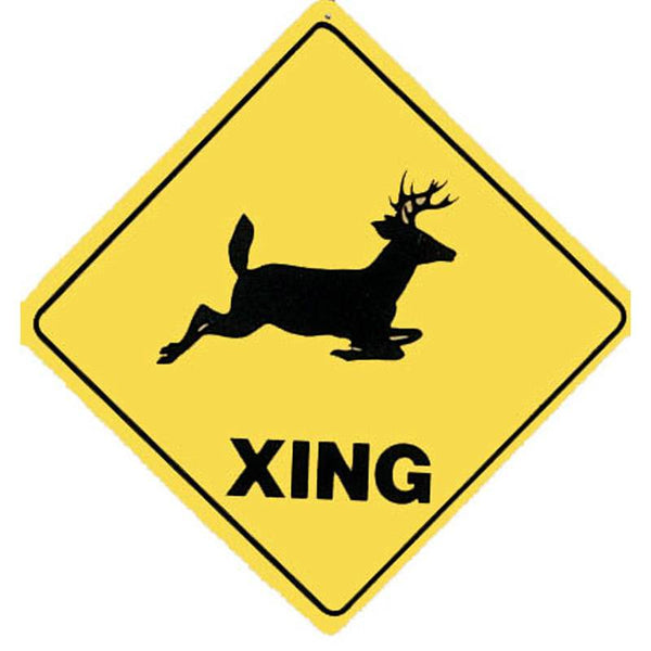 Deer Crossing Sign SGN-1543