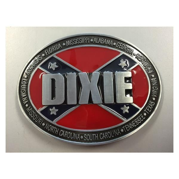 Dixie Stars and Bars Flag Belt Buckle BB121