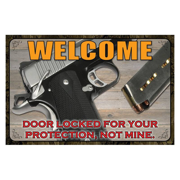Door Locked For Your Protection Welcome Mat 2509