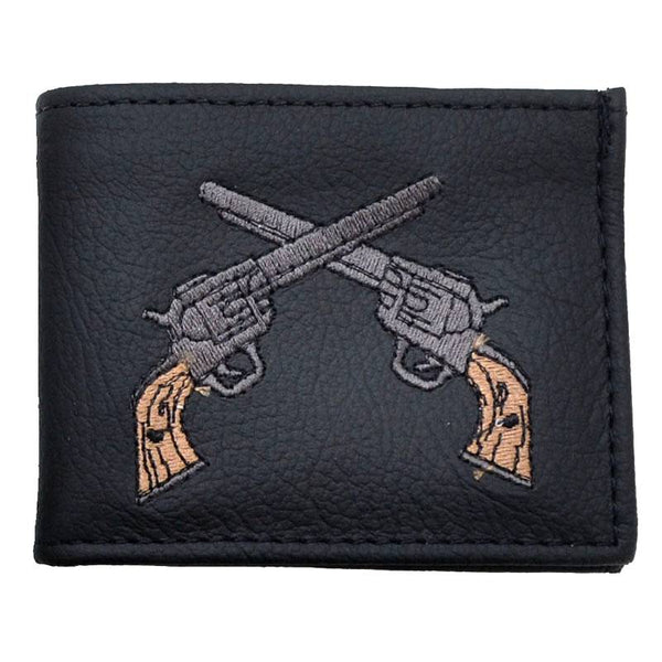 Dueling Pistols Embroidered Billfold Wallet LW-816G