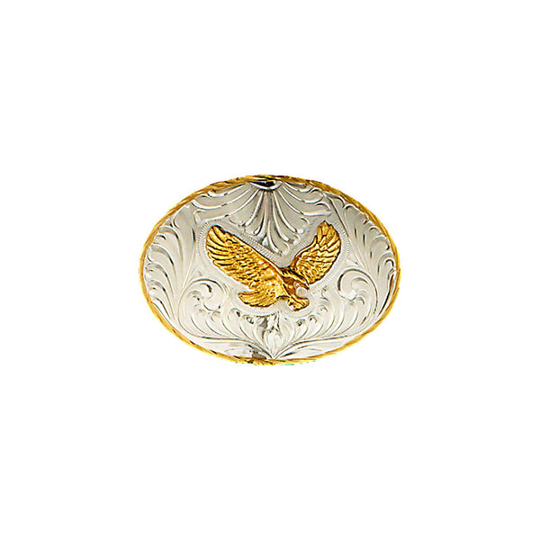 Eagle German Silver & Gold Belt Buckle FR-830