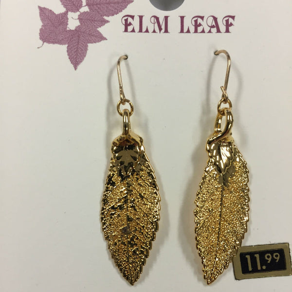 Elm Gold Leaf Earrings CJELM2