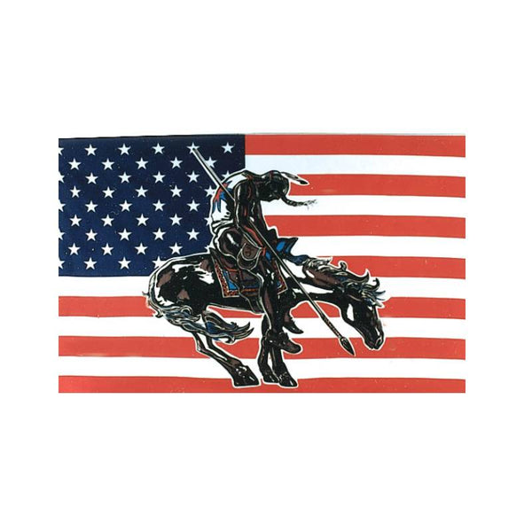 End Of The Trail 3x5 American Flag FLG-6881