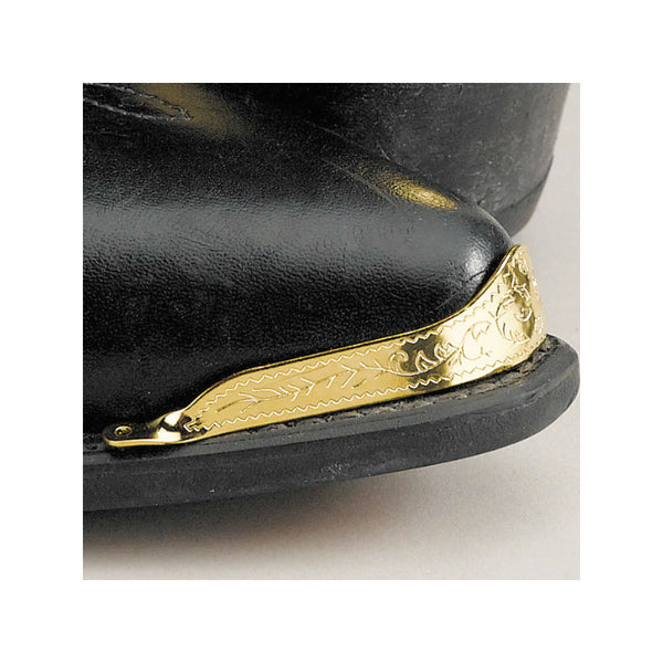 Engraved Brass Boot Toe Tips WX-1
