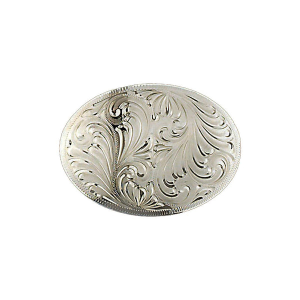 Engraved Flourishes German Silver Belt Buckle FR-850