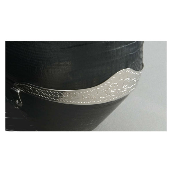 Engraved Silver Boot Heel Guards WX-6