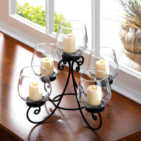 Enlightened Wrought Iron Candle Centerpiece 10017961