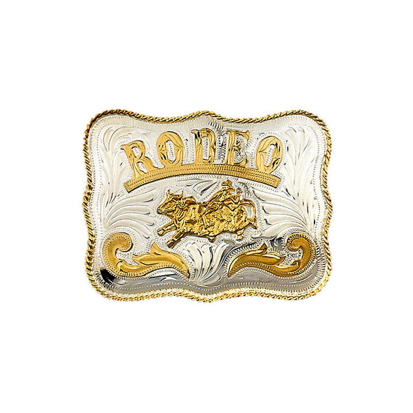 Extra Large Bullrider Rodeo German Silver Belt Buckle FR-898