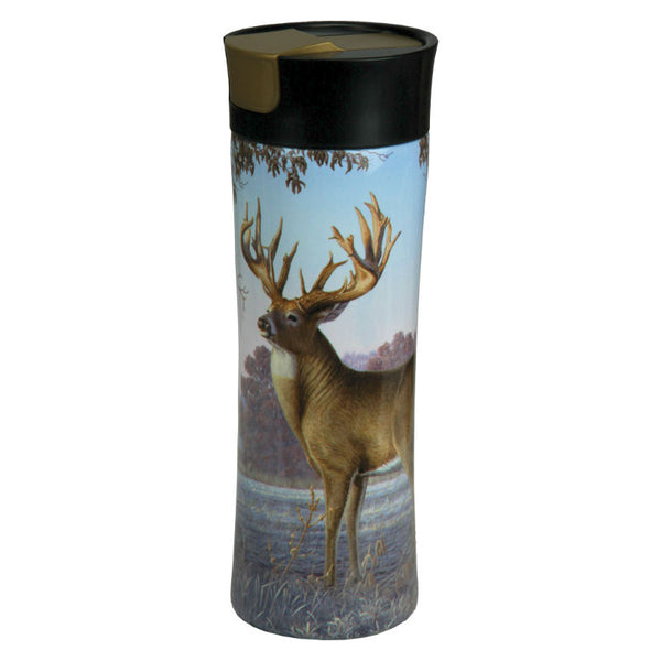 Fall Deer Scene 16 Oz Insulated Travel Mug 2125