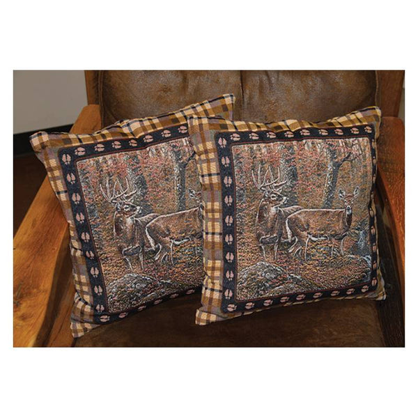 Fall Deer Tapestry Pillows 2603