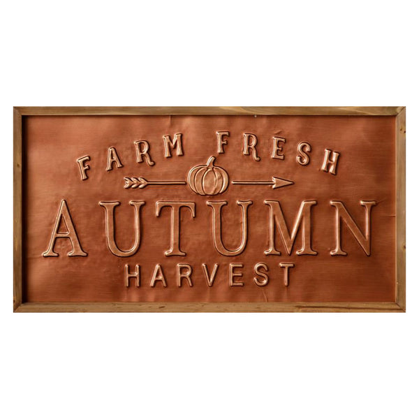 Farm Fresh Autumn Harvest Copper Sign 6WH864