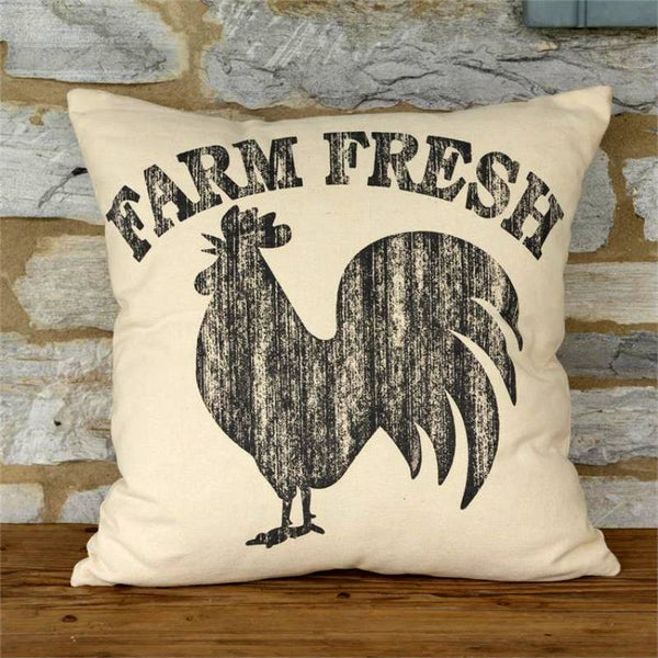 Farm Fresh Rooster Throw Pillow 8P5846