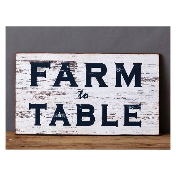 Farm To Table Rustic Sign 8WH471