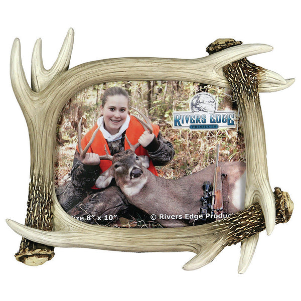 Faux Deer Antlers 8x10 Photo Frame 478