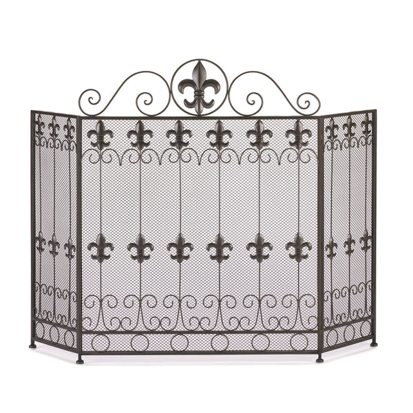 French Revival Fleur de Lis Fireplace Screen 10015400